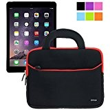 8.9-10.1 pollici Tablet Custodia Universale, Evecase 8.9-10.1 pollici Borsa in Neoprene con Manici per Apple iPad Air 2 / Air ...