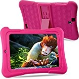 Alldaymall Bambini Tablet 7 pollici 16GB (IPS FHD 1920x1200, Processore 64-Bit Quad Core, RAM 1GB, Android 5.1, Wi-Fi) Rosa Custodia ...