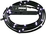 Cable NZXT CB-LED20-WT con Led Bianco, Sleeve - 2m, Colore Nero