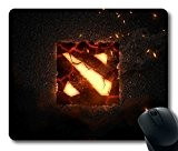 Custom Attractive Mouse Pad with War Cracks Logo Dota 2 Non-Slip Neoprene Rubber Standard Size 9 Inch(220mm) X 7 Inch(180mm) ...