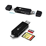 EC Technology, SD Superspeed / Lettore di Schede Micro SD USB 3.0 per Memorie Flash con USB Tipo C e ...