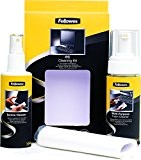 Fellowes Kit di Pulizia per PC, Spray 125 ml, Schiuma 150 ml, Panno Assorbente e Bastoncini di Pulizia