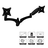 HFTEK® DS124WB Supporto da parete per doppio dual 2 Monitor TV Display Staffa da Parete Wall Mount Bracket