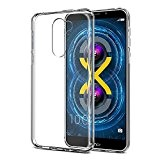 Huawei Honor 6X Custodia, Orlegol Huawei Honor 6X Cover Case Ultra-Sottile Slim fit Trasparente Crystal Bumper Caso Shock-Absorption Silicone Gel ...