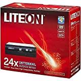 LiteOn HAS324-17 Masterizzatore DVD interno  (+24x16x8x, -24x16x6x, SATA, Nero incluso), colore: Nero