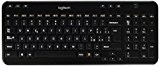 Logitech K360 Tastiera Wireless, Layout Italiano QWERTY, Nero
