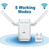 Mini Diva® 300 Mbps multifunzione – Mini Wireless-N Wifi Range Extender Signal Booster ripetitore 802.11 N/B/G Network/Router/AP con WPS