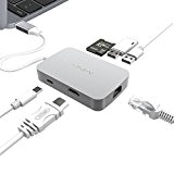 MINIX NEO C-X USB-X, USB-C Hub with Type-C Charging Port, HDMI port, 2 USB 3.0 ports, 100Mbps Ethernet LAN, SD ...