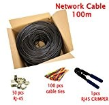 Multi Cable Cavo Rete Ethernet 100 metri Cat7 Cavo patch Alta velocità High Speed RJ45 S/FTP 10 Gbps 600MHz 24AWG ...
