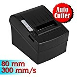 Nuovo Stampante Termica Portabile 300mm/sec 80mm Stampa Scontrino Ricevuta AUTO-CUT ESC/POS Thermal Dot Receipt Printer Compatibile a Windows2000/XP/7/VISTA/8/Linux