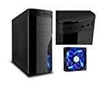 PC DESKTOP COMPLETO ASSEMBLATO ALIMENTATORE 500W ATX INTEL I5 QUAD CORE I5-4460 3,40 GHZ CASE MICRO ATX CASC01 FAN LED ...
