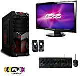 "PC DESKTOP GAMING COMPUTER FISSO ASSEMBLATO RAM 8GB + MONITOR 19"" LED + KIT TASTIERA E MOUSE + SPEAKER 2.0 ..."
