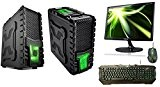 "PC DESKTOP INTEL QUAD CORE WIFI CASE GAMING XMACHINE CON 3 VENTOLE DA 12CM GREEN COMPLETO DI MONITOR 22"" SAMSUNG ..."