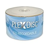 PlexDisc 52x 700MB White Inkjet Hub Printable CD-R 50 Packs Disc