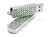 Ricco 12-049 - Chiavetta USB con cristalli Swarovski crystal elements e anello portachiavi, supporta Windows e Mac OS 8GB