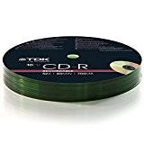 TDK® CD-R CD-R 52 x Speed 700 MB 80 min 10 pezzi 10 dischi vuoti 10 CD Pack 2 Packs (20 CDs)