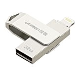 UGREEN Memoria USB per iPhone e iPad, 32GB [MFI Certificato] Pen Drive 2 in 1 Lightning e USB 2.0, Flash ...