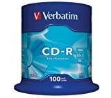 Verbatim - 100 x CD-R - 700 MB ( 80min ) 52x - mandrino - supporti di memorizzazione