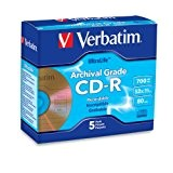 Verbatim  Archival Grade CD-R 80MIN 700MB 52X 5pk Jewel Case