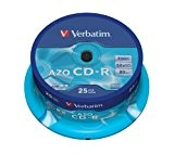 Verbatim AZO CD-R 52X 700MB Crystal 25 Pack, 43352 (25 Pack)