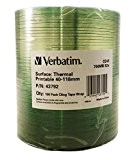 Verbatim CD-R, 52X - 700 MB Bulk Thermal printable, 43792 (Bulk Thermal printable 100 Cling tape wrap)