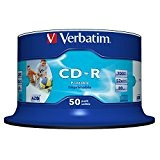 Verbatim CD-R 52x Speed 700MB Wide Printable Surface generic, confezione da 50