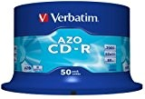 Verbatim CD-R AZO Crystal 50 Pack Spindle 80min 700MB - confezione da 50