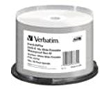Verbatim DVD-R 16x Wide Printable Waterproof No ID Brand - blank DVDs (DVD-R, spindle)
