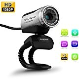 Webcam USB Camera Web Cam HD 1080P, AUSDOM 12,0 m con built-in microfono a clip per PC Laptop Computer Desktop Skype ...